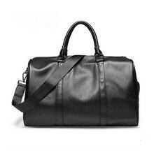 Brand Large Capacity Leather men's travel bags Vintage Bucket handbags shoulder bag Big Volume men Business Luggage
