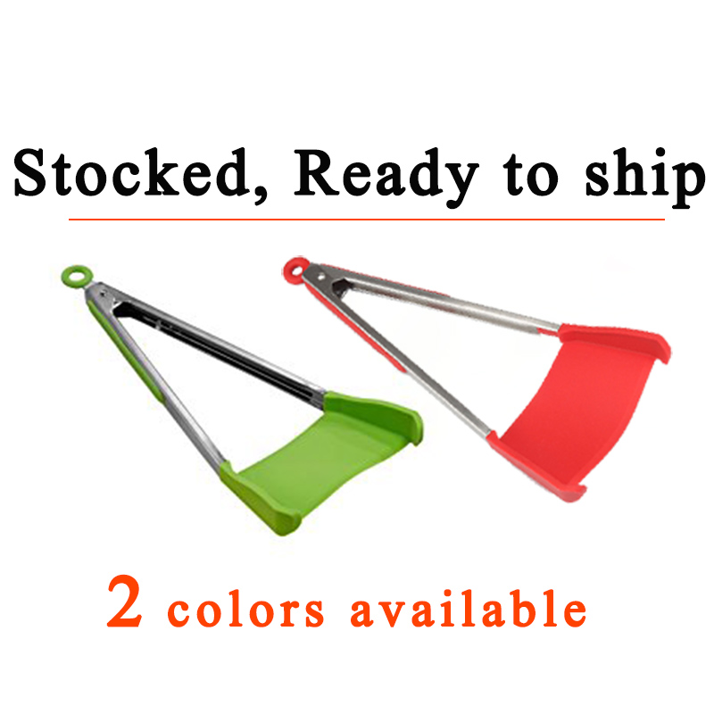 Clever Tongs 2-in-1 Kitchen Spatula & Tongs Non-stick, Heat Resistant, Dishwasher Safe - 2018 Dropshipping