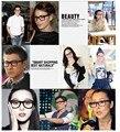O Envio gratuito de Óculos de Protecção Contra As Radiações Computador Anti-cansado Unisex Das Mulheres Dos Homens Black Frame Ótico Eyewear da Prescrição Rx-able