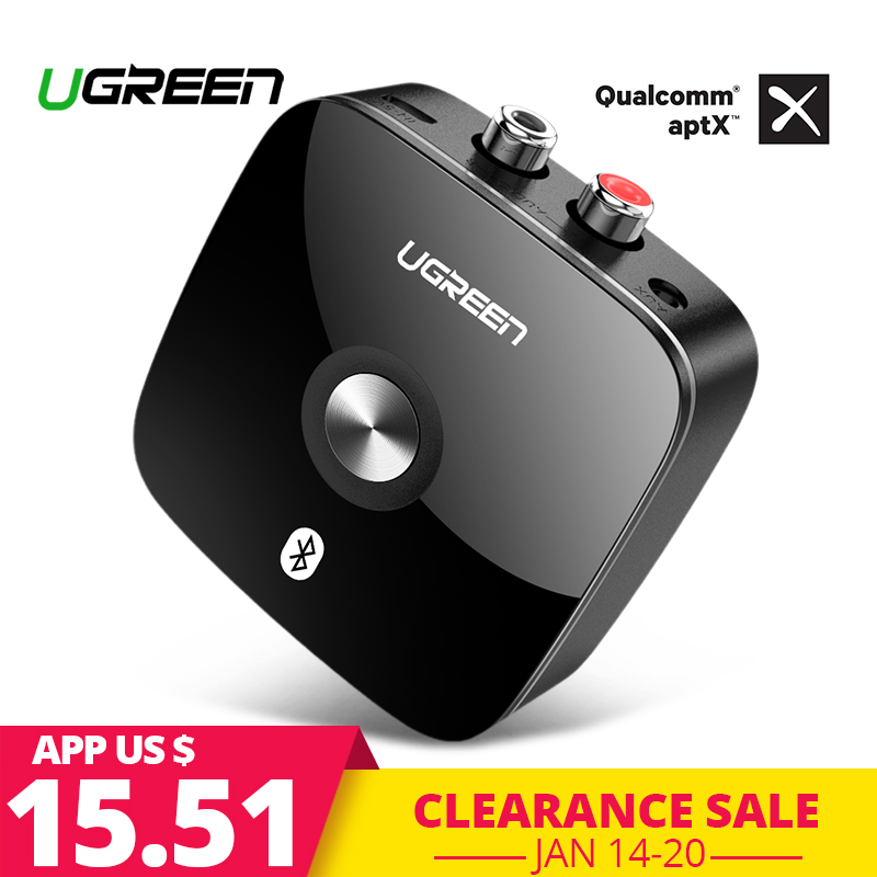 Ugreen receptor Bluetooth 4,2 2RCA 3,5mm Jack Aux Audio receptor inalámbrico de música para auriculares Bluetooth receptor