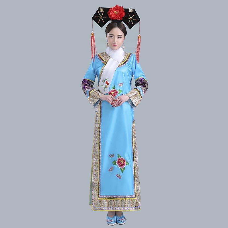 Qing dynastie dramaturgique Robe femmes chinois traditionnel antique Infanta Costume Peri théâtrale Robe Dande porter YZT081903