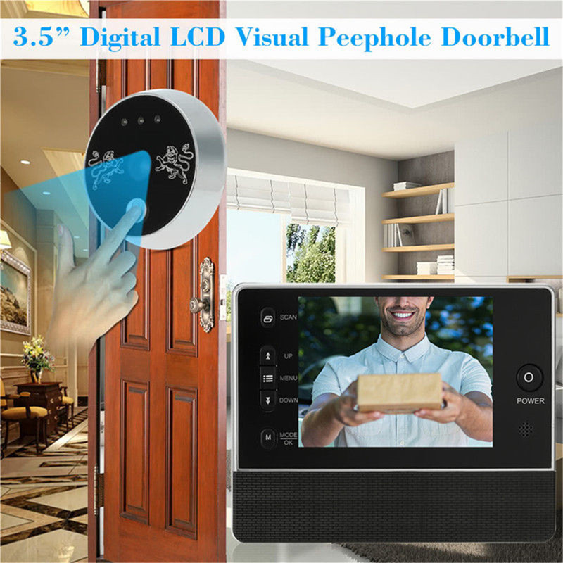 KINCO Smart Doorbell 3.5 inch TFT LCD Screen 0.3MP Camera Li