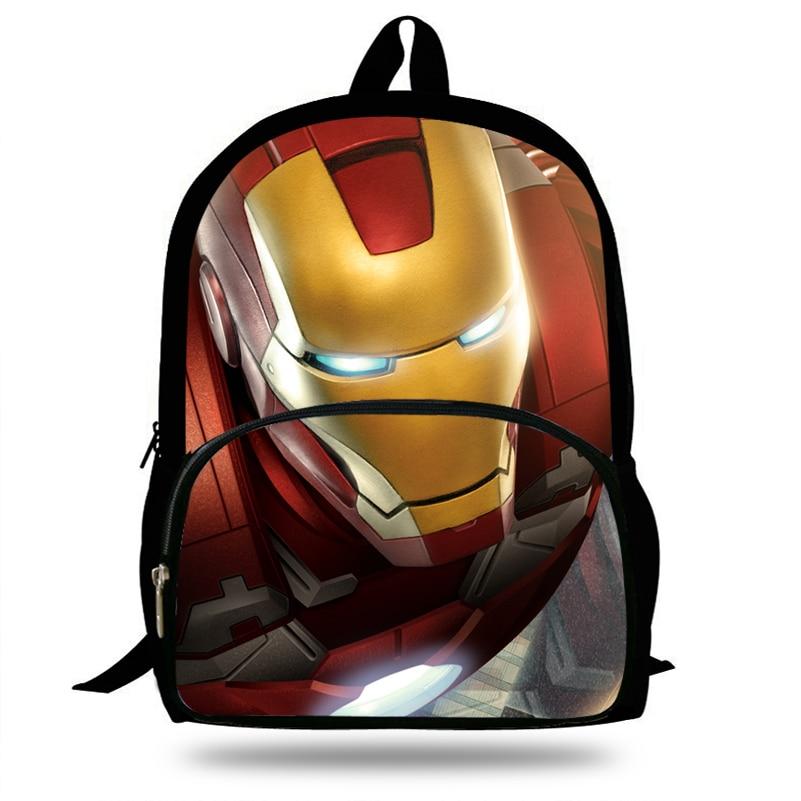 """Marvel Avengers Backpack Comic Design 16/"""" Book School Bag"""