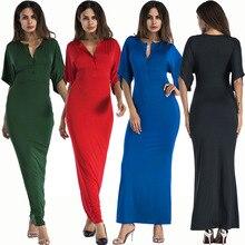 Popular new summer fashion casual temperament sexy V-neck slim high waist elegant female dress