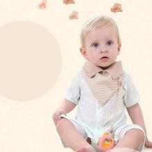 Горячая Распродажа, хлопковые мочалки в полоску для малышей, Детские нагрудники и салфетки для отрыжки, для девочек и мальчиков, многофункциональный хлопковый воротник, детское полотенце для новорожденных
