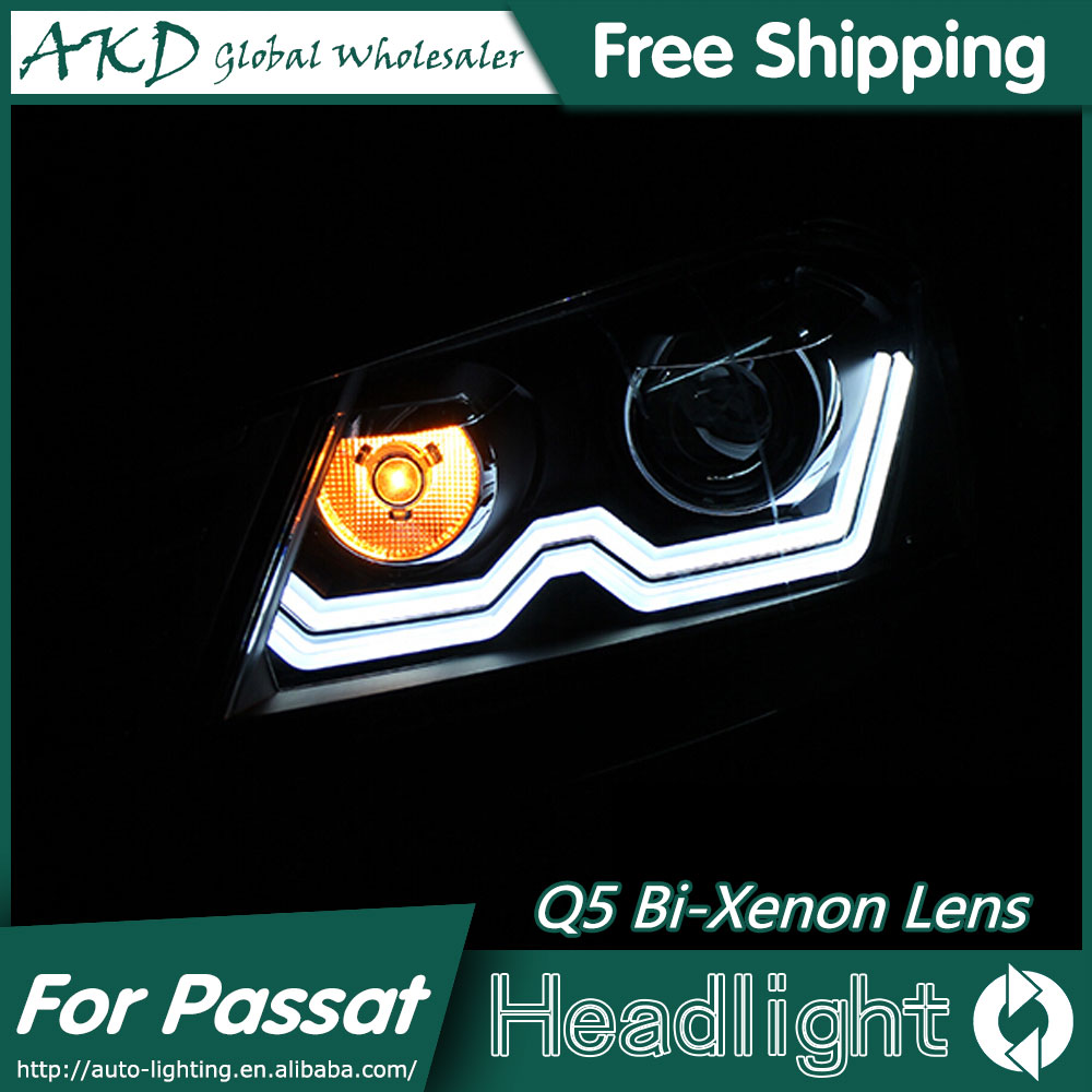 1AKD Car Styling for Passat B7 LED Headlights 2012-2015 VW Passat LED Headlight DRL Bi Xenon Lens High Low Beam Parking Fog Lamp