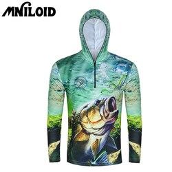 Mniloid roupas de pesca de secagem rápida manga longa m l xl xxl xxxl com capuz proteção solar camisa de pesca respirável anti-uv t camisa
