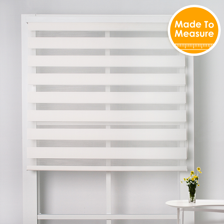 New Year Free Shipping Translucent White Zebra Blinds With