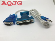 New USB 2.0 To RS232 Com Port 9 PIN SERIAL DB25 DB9 Adapter Cable Converter usb 2 0 to dual com ftdi chip 2 port usb to serial rs232 db9 adapter cable win10