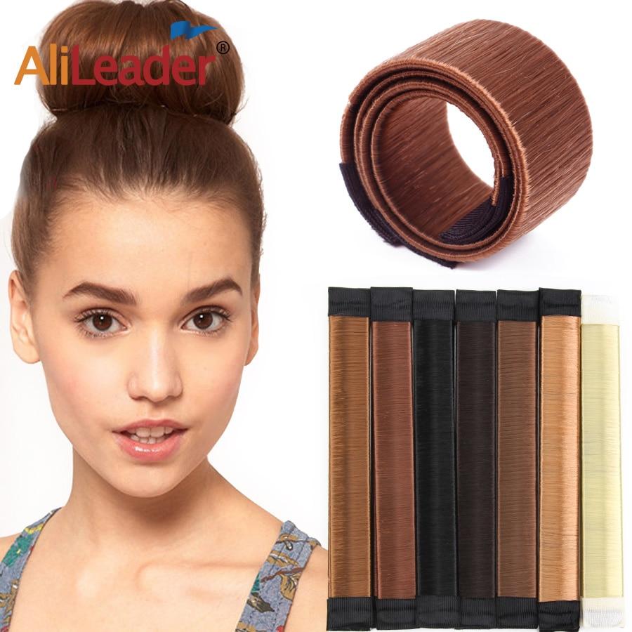 Synthetic Wig Donut Headband Women Hair Accessories Girl Magic Hair Magic Diy Tool Bun Maker Sweet French Dish Made Hair Band