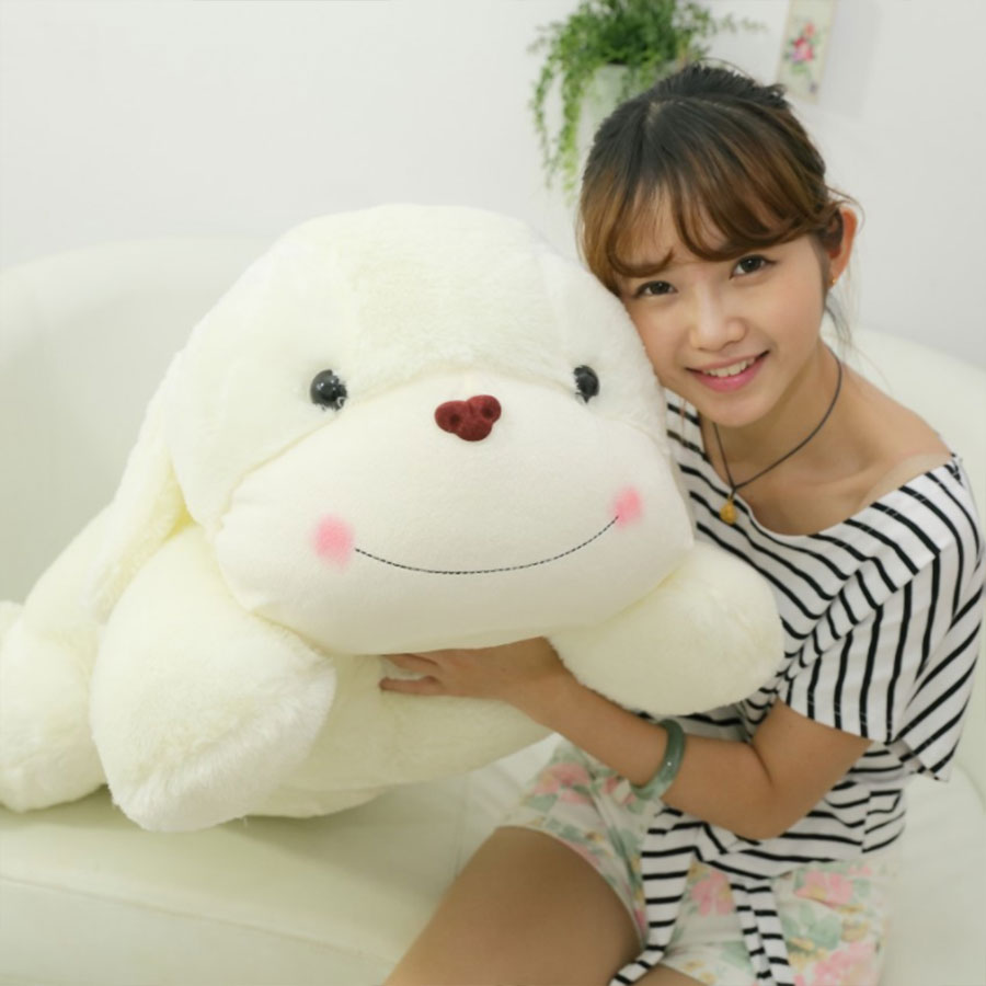 Big Size Plush Animal dogs Toys beige lying dog toy lovely sweet shy dog doll birthday gift For Children Kids