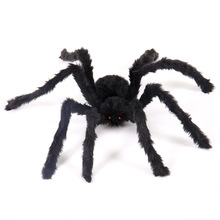 3d halloween spider horror photography props simulated plush spiders kids funny toys haunted house holiday bar - Halloween Spiders