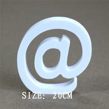 Новинка искусственные и 0 9 Деревянные белые буквы алфавита