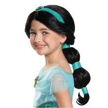 Хэллоуин Детское платье Аладдин лампа Косплей Костюм Принцесса Жасмин девушка парик головной убор костюм реквизит