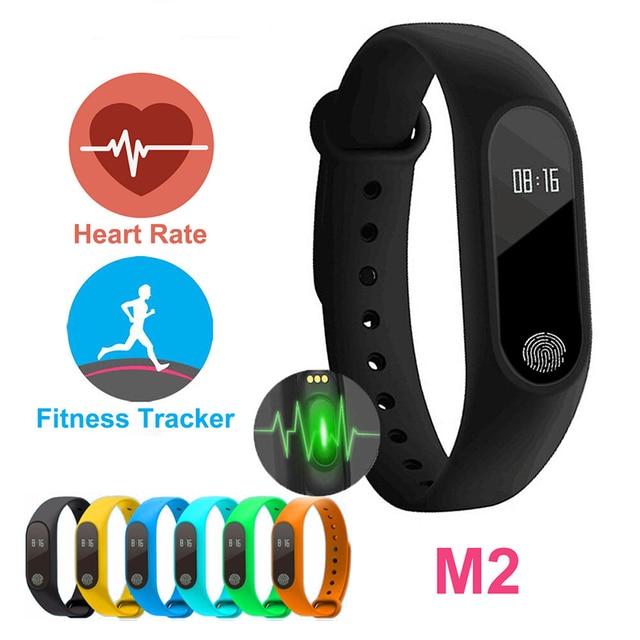 US $12 5 |SOROPIN M2 Smart Bracelet Wristband Fitness Activity Tracker  Smartband Heart Rate Monitor For Sport VS Xiaomi Mi Band 2 Fitbit-in Smart