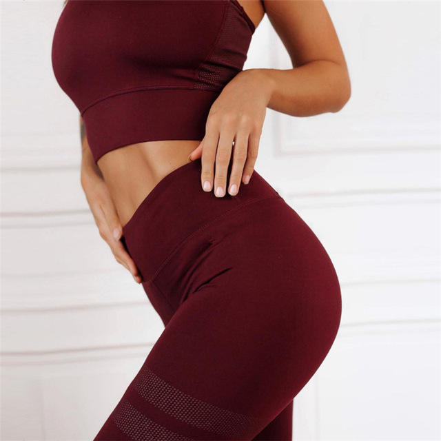 2018 New Women Fitness Suit Set Sexy Tank Tops And Leggings Two Piece Set Sporting Girl Female Tracksuit Set Outfits Sportwears