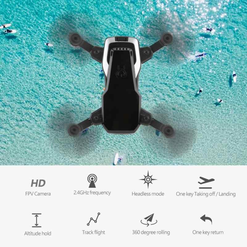 Складной мини Радиоуправляемый Дрон Квадрокоптер с Wifi FPV 0.3MP камера 2,4 ГГц Безголовый режим 360 градусов прокатный пульт дистанционного управления Дрон игрушка