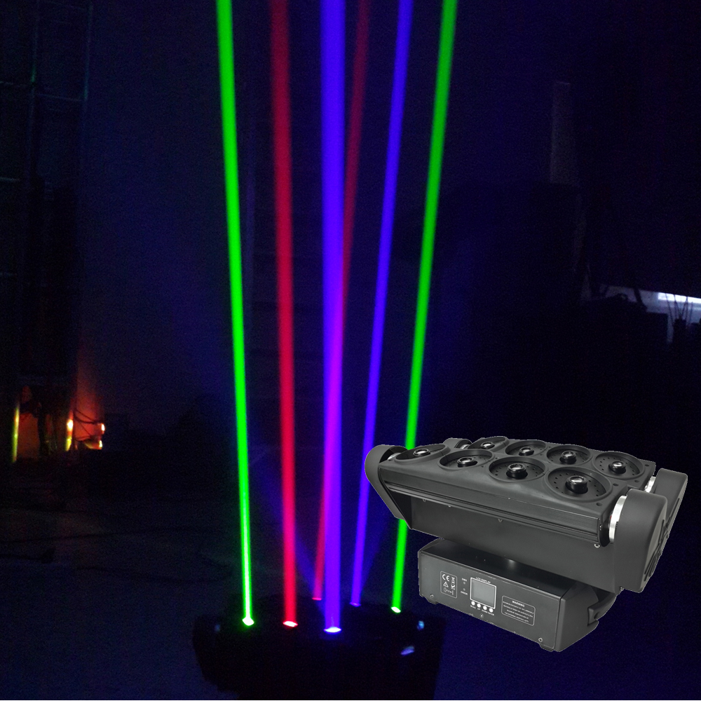 1Pcs/Lot Spider Moving Head Laser Lights 1120mW RGB 3IN1 Beam Moving Head Stage Lights 90-240V For Xmas Party Wedding Discos laser head owx8060 owy8075 onp8170