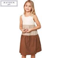 HAYDEN Girls Patchwork Dress Kids 2017 Summer Sleeveless Dresses For Children Teenagers Clothing Size 7 To