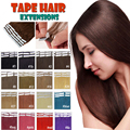 "Tape In Human Hair Extensions 20pcs Adhesive Skin Weft Hair Extensions 16"" 18"" 20"" 22"" 24""Double Sided Remy Tape Hair Promotion"