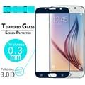 "Brilhante Premium 3D full Curvo Borda de Vidro Temperado film Para Samsung Galaxy S6 5.1 ""cobertura completa de Filmes Protetor de Tela Do Telefone"