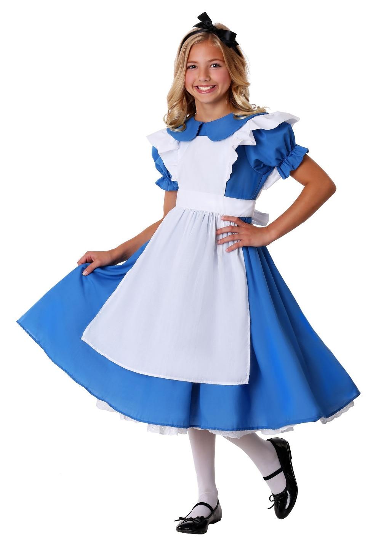 kids Girl Alice in Wonderland Costume Lolita Dress Maid Cosplay Fantasia Carnival Halloween Costumes for Children's