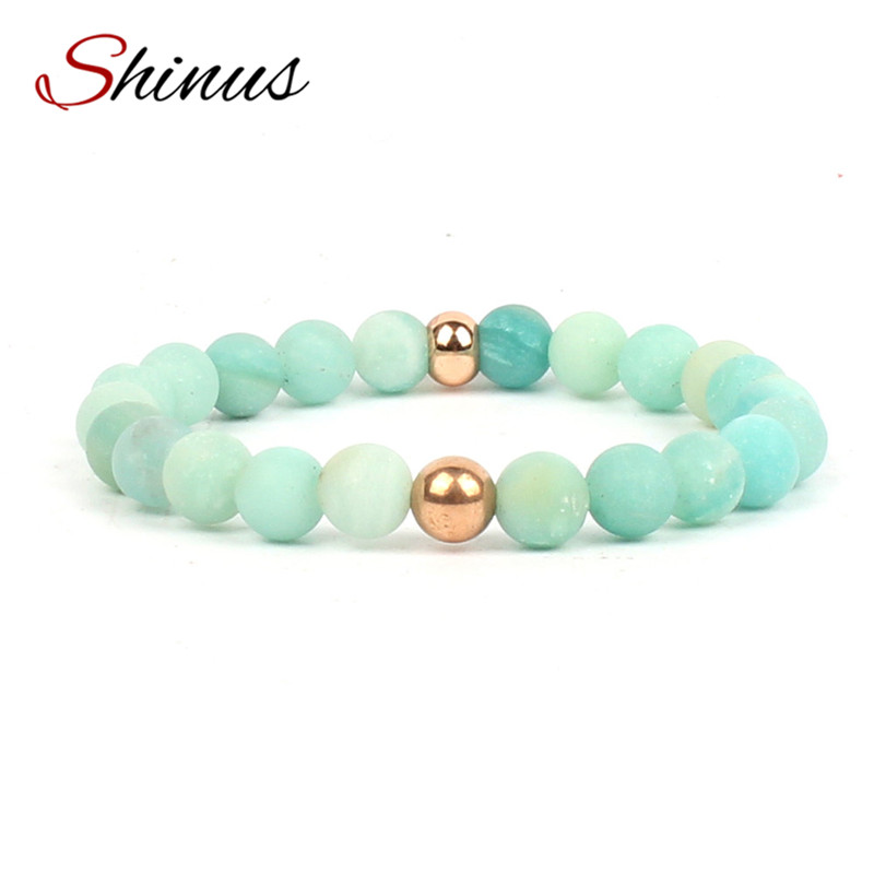 Shinus Chakra Bracelets Men Jewelry Boho Bracelet Women Bileklik Mala Amazonite Natural Stone Meditation Yoga 2017 Energy Maxi