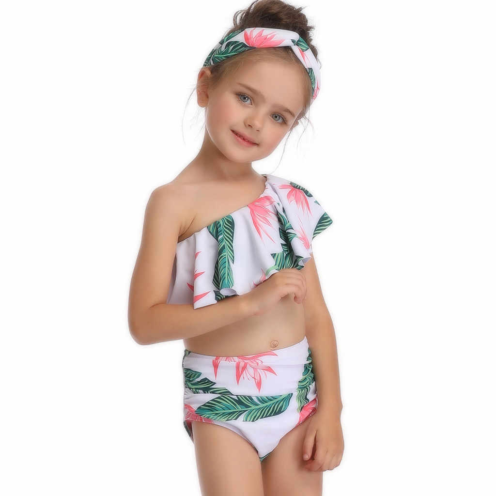 24a384035 ... ARLONEET mother and daughter swimsuit swimwear bikini family matching clothes  outfits look mom mum baby dresses ...