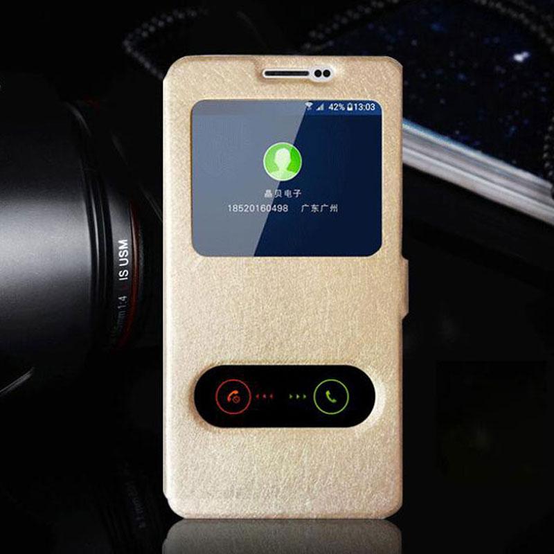 Για το Samsung Galaxy J3 2016 υπόθεση απάντηση παραθύρου απόψεων Flip κάλυμμα δερμάτινη θήκη για Coque Samsung J3 2016 πορτοφόλι υπόθεση με Stand Capa