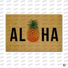 Entrance Floor Mat Non-slip Doormat Aloha Pineapple Door Mat Outdoor Indoor Rubber Mat Non-woven Fabric Top 18x30 3d pineapple print door mat