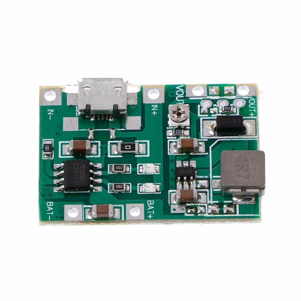 Литий-ионный 18650 3.7 В 4.2 В Батарея Зарядное устройство доска DC-DC Step Up Повышение модуль Интегральные схемы