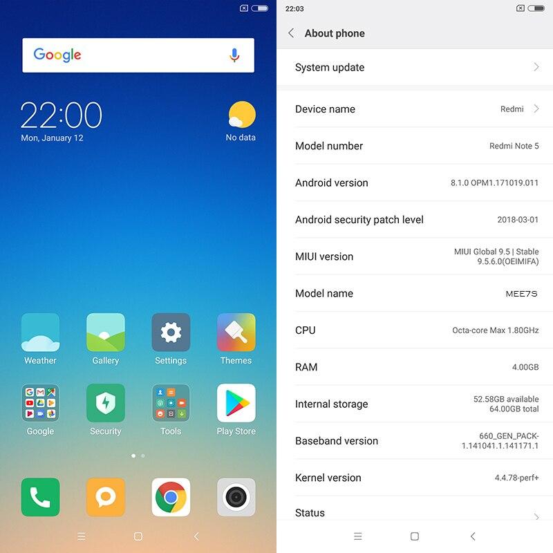"Original Xiaomi Redmi Note 5 4gb Ram 64gb Rom Snapdragon 636 Octa Core 5.99"" 18:9 Full Screen 12mp+5mp Ai Camera Mobile Phone #3"