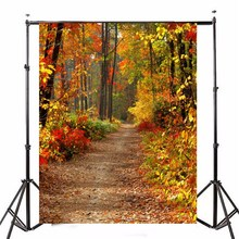 5X7FT Винил Осень Лес Фотография Фон фотостудия Реквизит Фотографии Фон 1.5 Х 2.1 м водонепроницаемый