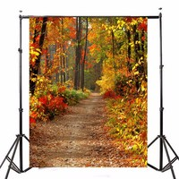 5X7FT Vinyl Autumn Fall Forest Photography Background Photo Studio Props Photography Backdrop 1 5X2 1m Waterproof