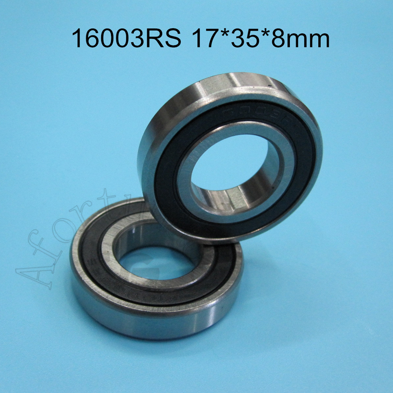 16003RS Bearing 17*35*8(mm) ABEC-5 1Piece 16003 16003RS Rubber Sealing Type Chrome Steel Deep Groove Bearing