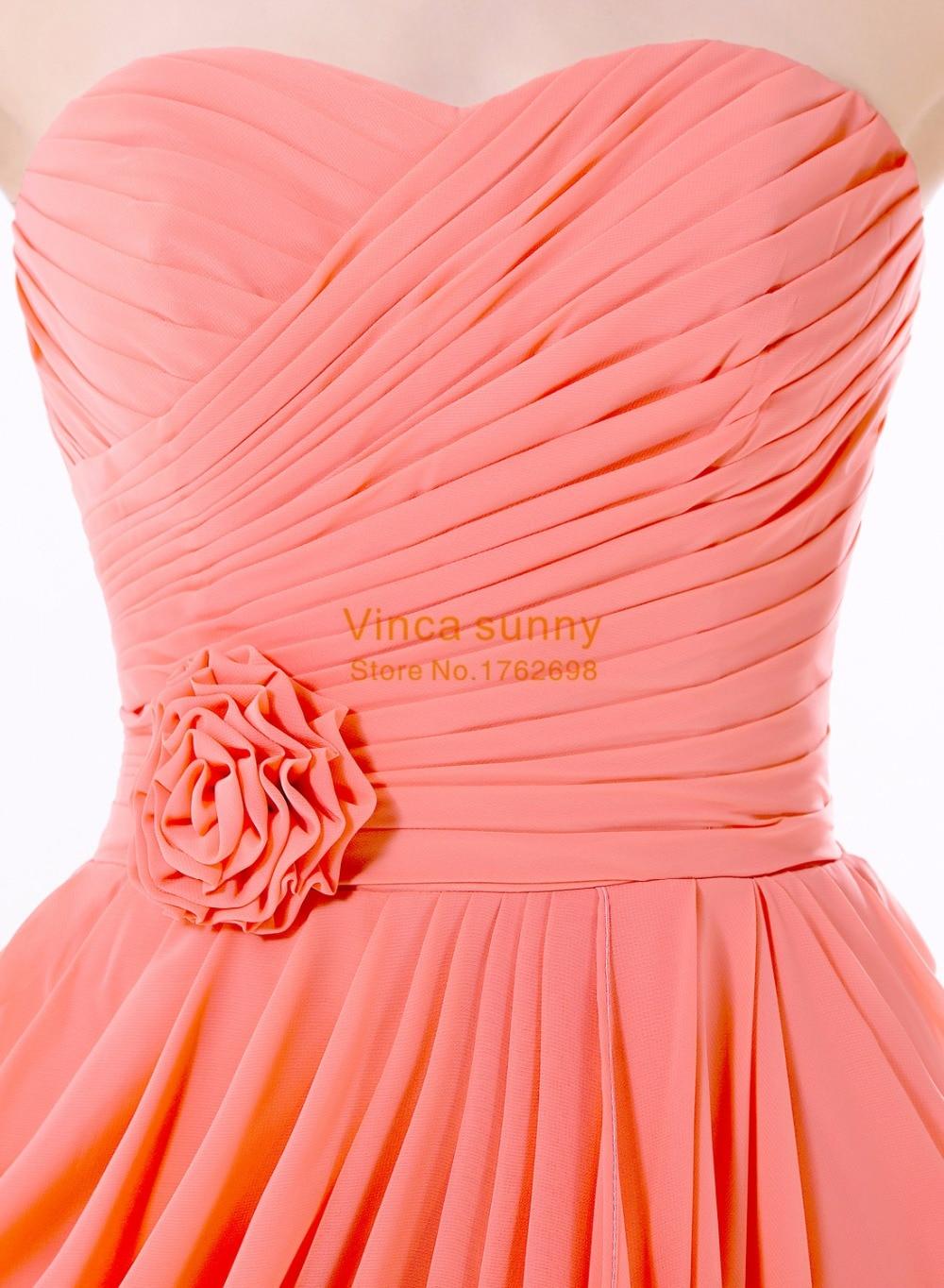 Bonito Damas De Honor Vestido Orange Bandera - Colección de Vestidos ...