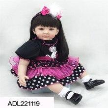 22 inch 55 cm  reborn Silicone  dolls, lifelike doll reborn babies toys Lovely doll Festival gift