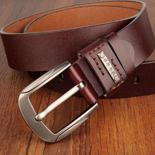 Men's New Pin Buckle Genuine Leather Belt. Available Colors – Black and Coffee