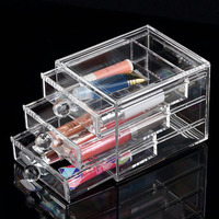 Mother S Day Gift Transparent Crystal Cosmetics Drawer Storage Organizer Box Retail Makeup Jewelry Plastic Storage