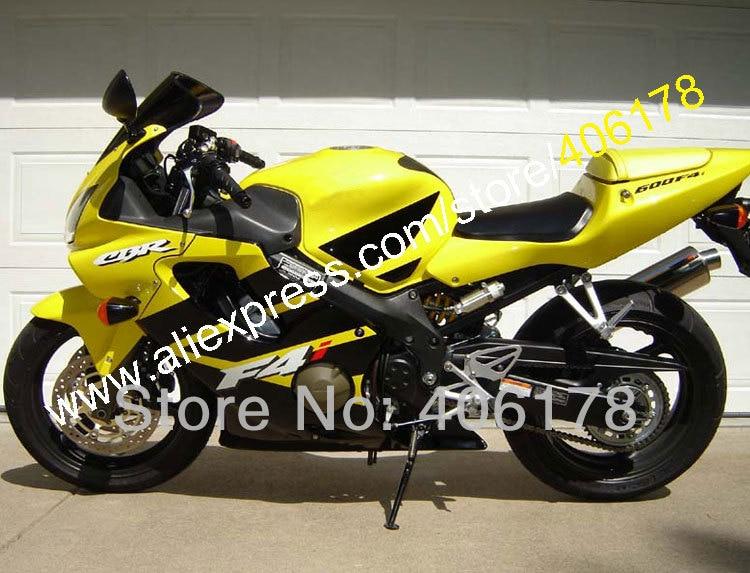 Hot Sales,For HONDA F4i CBR600 01-03 Yellow Black CBR600F4i CBR 600 600F4i 2001 2002 2003 Fairing Kit (Injection molding)