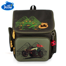 2019 Delune Brand Safe 3D Orthopedic Children School Backpack Girls Bags for 1-3 Grade 5-8 Years Boys Cartoon bags