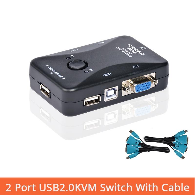 2 Port Usb Kvm-switch Eine Tastatur Und Maus Zu Schalter Selector Adapter 1920x1440 Verbindet Drucker Tastatur Maus Monitorfj-2uk Bequemes GefüHl Computer & Büro