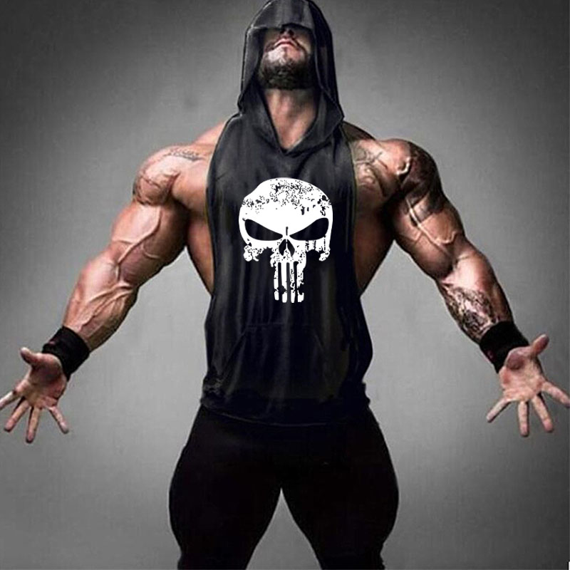 Brand Clothing Fitness Punisher   Tank     Top   Men Stringer Golde Bodybuilding Muscle Shirt Training Vest Gyms Undershirt Singlets