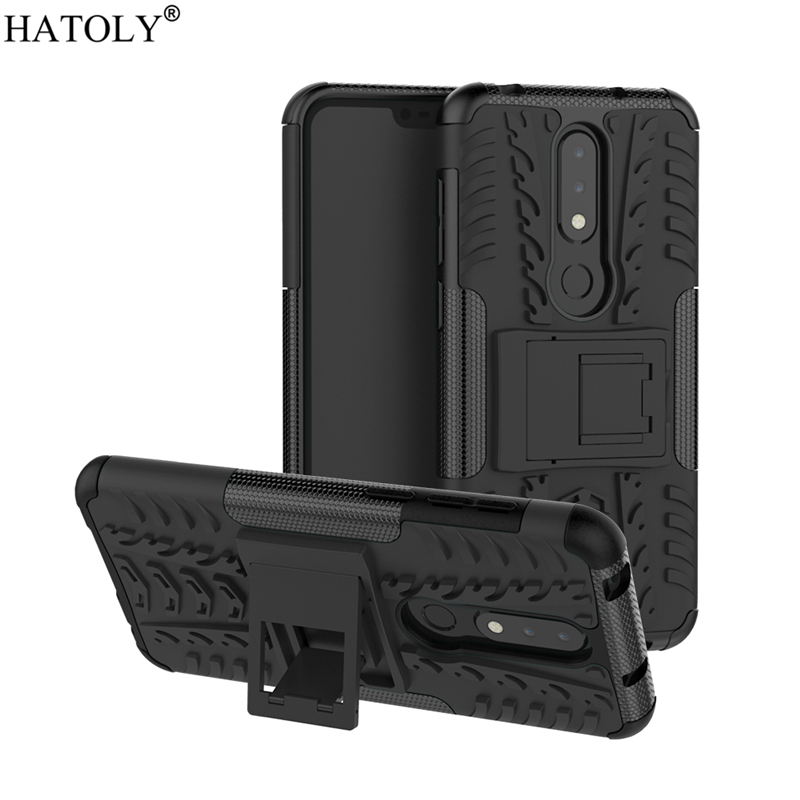 For Cover Nokia 6.1 Plus Case Shockproof Armor Heavy Duty Hard Rubber Phone Case for Nokia 6.1 Plus Cover for Nokia 6.1 Plus X6