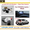 "Auto Rear View Camera Back Up + 4.3"" LCD Monitor = 2 in 1 Parking Assistance System - For TOYOTA Auris / Blade"
