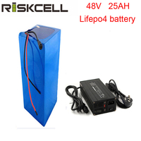 No taxes 2000 cycle times lifepo4 48v 25ah electric bike battery with BMS and 5A charger
