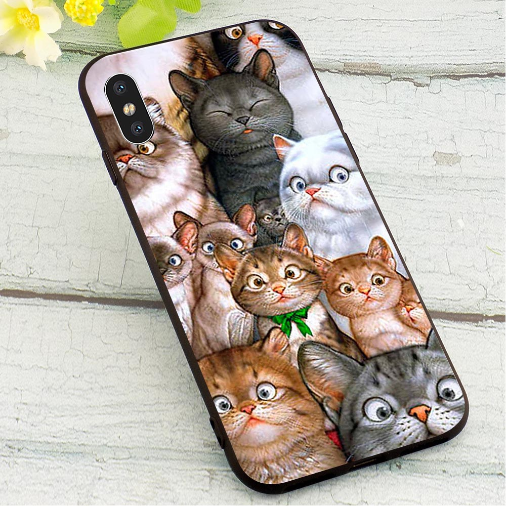 Cat Mouse Pig Dog Soft TPU Cover for iPhone 6S Fashion Phone Case for iPhone 6S Plus 7 8 X Xs Max XR 5 5S SE 6 TPU in Fitted Cases from Cellphones Telecommunications