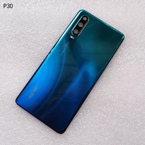 Image 3 - New Original Tempered Glass Back Cover For Huawei P30 Spare Parts Back Battery Cover Door Housing + Camera frame