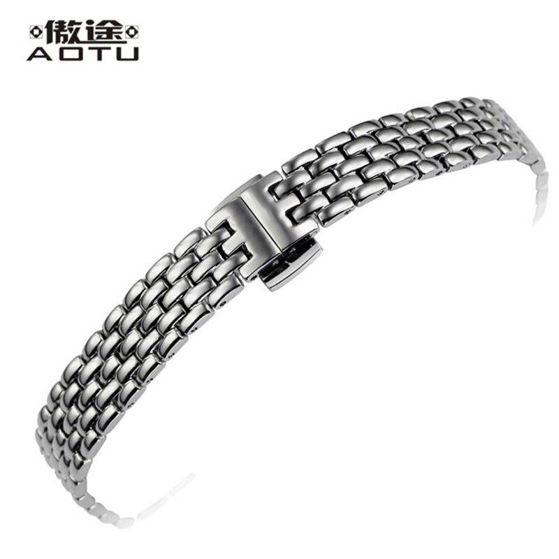 Bracelets de montre en acier inoxydable pour Tissot 1853 T058 dames Bracelet de montre 11mm femmes Bracelet ceinture marque montre sangles femme horloge ceinture