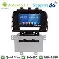 """Quad Core 8 """"5.1.1 Android Multimídia Carro DVD Player de Rádio Estéreo FM Tela DAB + 3G/4G WIFI Mapa do GPS Para Opel Astra J 2011 2012"""